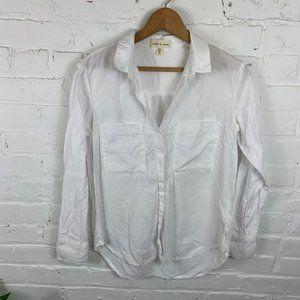 Cloth & Stone Button-Up Blouse White Size XS